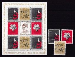 Yugoslavia - 1969 Year - Michel  1318/20+Block 15 - MNH - 1945-1992 Repubblica Socialista Federale Di Jugoslavia