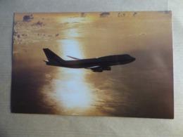 EGYPTAIR  B 747-300   AIRLINE ISSUE / CARTE COMPAGNIE - 1946-....: Modern Era
