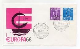 Italia - 1966 - Busta FDC Roma - Europa - C.E.P.T - Con Doppio Annullo Trento - (FDC18201) - Europa-CEPT