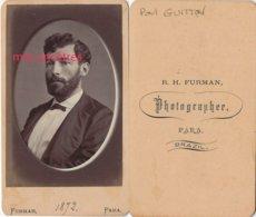 Brésil 1872-Famille GUITTON-CDV Paul 1848-1919 Fils D'Etienne Et Thaïs DUPONT DES JUMEAUX Ep Da Silva-photo Furman  PARA - Alte (vor 1900)