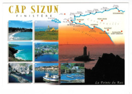 29 Cap Sizun Multivues Douarnenez,Pointe Du Van,Baie Des Trépassés,Plogoff,Bestrée Port,Audierne,Pors-Poulhan TBE - Sizun