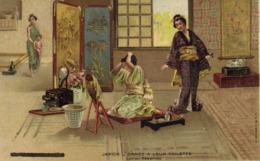 Illustrateur JAPON  DAMES A LEUR TOILETTE RV Pub Chaussures Raoul - Japon