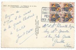 BLASON 3FR DAUPHINE BLOC DE 4 CARTE DAGUIN ST PIERRE DE CHARTREUSE 1954 ISERE - 1941-66 Wapenschilden