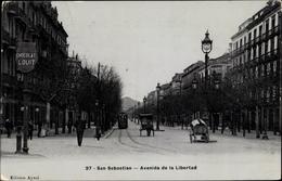 Cp San Sebastian Baskenland, Avenida De La Libertad, Straßenbahn, Chocolat Louit - Spagna