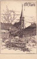 ( 08 ) - Sainte-Marie Bei Vouziers Zeichnung Kirche Carte Dessinée   Carte Allemande 1°  Guerre - Other Municipalities