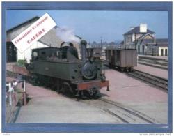 Carte Postale 29. Châteaulin La Gare  Train Vapeur   230 T Franco-Belge  Trés Beau Plan - Châteaulin