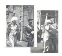 Lot De 2 Photos ( +/- 6 X 9 Cm) Visite à LIEGE Du Roi Léopold III Et De La Reine Astrid 1934 ?? - Royauté (b259) - Famous People