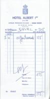 Ancienne Facture De L'Hôtel Albert 1er, Avenue Président Doumer, Vichy (3/11/1979) - Sports & Tourisme