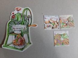 2019 Malaysia Day Food Muslim Halal Cuisine Meal Dessert Cake Fruit Set Combo Stamp & MS Miniture Stamp MNH - Malaysia (1964-...)