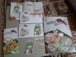 2019 Folder Set Malaysia Day Food Muslim Halal Cuisine Meal Dessert Cake Fruit FDC Set & Stamp Set MS Miniture MNH - Malaysia (1964-...)
