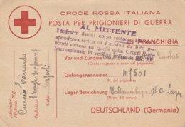 1944. CROCE ROSSA ITALIANA, POSTA PER PRIGIONIERI DI GUERRA - 1939-45