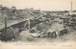 CPA 49 Maine Et Loire Commission Des Ardoisières D'Angers (Larivière Et Cie) Les Fresnais Carrière Attelage - Andere Gemeenten