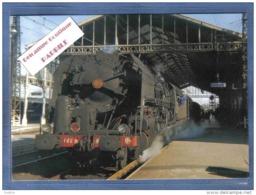Carte Postale 11. Narbonne  La Gare  Train Vapeur  N° 507 Départ Pour Port-Bou Trés Beau Plan - Narbonne