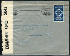 PORTUGAL - N° 599 / LETTRE AVEC O.M. DE LISBOA LE 14/4/1940 POUR LONDRES AVEC CENSURE - TB - 1910-... République