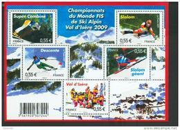 France 4329 4333 F 2009  Ski Alpin  Neuf ** TB MNH Faciale 2.75 - Neufs