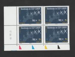FRANCE / 2019 / Y&T N° 5349 ? ** : Ecole ESCP EUROPE X 4 - Coin Daté 2019 06 17 - Hoekdatums