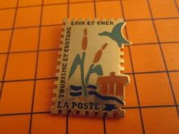 1419 Pin's Pins : BEAU ET RARE : Thème POSTES / TIMBRE POSTE LOIR ET CHER ROSEAU CANARD TOURISME ET CULTURE - Post