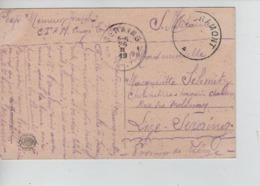 CBPN37/ CP Charleroi Rue Charles II S/CP En S.M.c.Fortune Libramont Centre Vide > Seraing C.d'arrivée 26/2/1919 - Postmark Collection