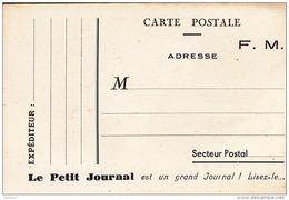 CPA - Militaire - Militaria - Carte Postale F.M. Le Petit Journal - Militaria