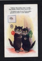 """Animal / Chat,chats Habillés Humanisés / Dessin Illustrateur ? """"j'espère Que Tu Ne Feras Plus ."""" / Séries Comique N°5455 - Animaux Habillés"""