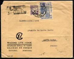 PORTUGAL - N° 544 + 615 / LR D' ESTORIL LE 6/5/1941 POUR MONACO - B - 1910-... République