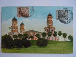 Malay Malaya Malaisie Johore State Mosque Used 1935 Stamp Tiger 1c 5c Yv 51 59A - Malaysia