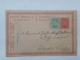 Lot De 4 Entiers Postaux Albert - Vers Trazegnies , Charleroi , Gedinne Griffe Bohan ..... Lot Frd . - Stamped Stationery