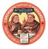 Etiquette De Fromage Camembert   - St Hélier  -  Union Laitière Des Fermiers D'Isigny  (Calvados) - Cheese