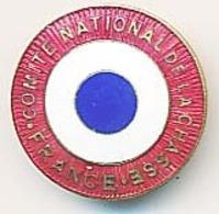 Insigne Boutonnière Diamètre 25mm Comité National De La Chasse France  Drapeau Français  Chobillon Paris - Advertising