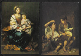 Martolomé - Esteban  MURILLO  ( 1618 - 1682 )  Vierge Au Chapelet Et Les Mangeurs De Pastèques . Neuves . - Paintings