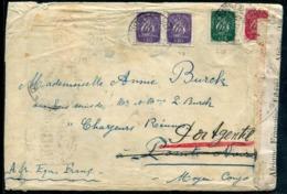 PORTUGAL - N° 631 (2) + 633 + 635 / LETTRE DE LISBOA LE 6/12/1943 POUR PORT GENTIL EN A.E.F. AVEC CENSURE - B & R - 1910-... République