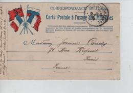 CBPN40/ CP Française Pour Militaire Secteur Postal 104 Datée 6/1/1915 C.Oost-Duinkerke Année Barrée > Paris - Zona Non Occupata