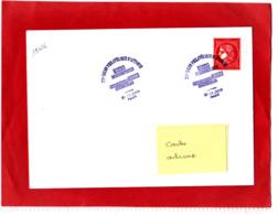 1.00 € Rouge, Cérès Non Dentelé, Sur Lettre, Obl 1er Jour 07/11/19, Provenant Du Bloc De 25 T Du Livret Prestige - Francia