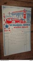 Facture Desmarais Freres, Station Relais, AIX En Provence - 1934  …... … CL-2 - Automobile