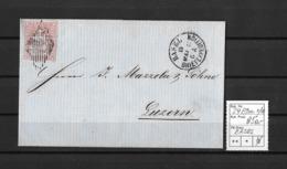 1854-1862 Helvetia (ungezähnt) → Frachtbrief (Nelken&Ingwer) BASEL (Courvoisier & Cie) Nach LUZERN  ►SBK-24B1.m II/III◄ - 1854-1862 Helvetia (Non-dentelés)