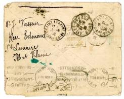 CALAIS => ILLE ET VILAINE => MAROC => ILLE ET VILAINE ENV 1928 SCAN RECTO ET VERSO - Storia Postale