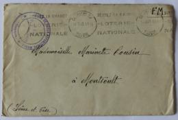 Enveloppe 1940 Tampon Légion De Garde Républicaine Mobile Chambéry Marinette Cousin à Montsoult Gendarmerie - Polizia