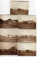 LOT DE 7 PHOTOS 6 X 9. AVIATION 14/18 - AVIONS A IDENTIFIER - Aviation