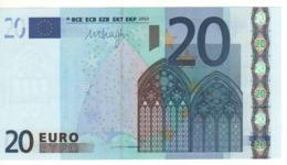 "20 EURO  ""L""   FINLAND    Firma DRAGHI    R 027 I1    /  FDS  - UNC - EURO"