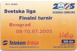 Serbia And Montenegro 50.000 / 06. 2005. Volleyball Low Tirage - Jugoslawien