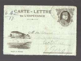 Carte Lettre De, L'espérance  De FRANCHISE MILITAIRE   1917  Joffre (PPP21052) - Marcophilie (Lettres)