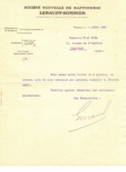 1932 PARIS SOCIETE NOUVELLE RAFFINERIE SUCRE LEBAUDY SOMMIER FACTURE PUBLICITAIRE ILLUSTREE DOCUMENT COMMERCIAL LEZIGNAN - 1900 – 1949