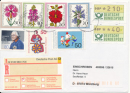 Germany Registered Multi Franked Cover Sent To Würzburg 1998 Very Good Franked - [7] Federal Republic
