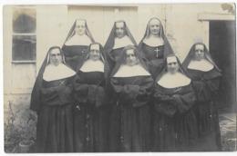 Bazas Carte Photo Religieuses Du Pensionnat Saint-Joseph ? Bazas Juillet 1918 - Bazas