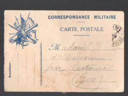 Carte   De FRANCHISE MILITAIRE   (PPP21053) - Marcophilie (Lettres)