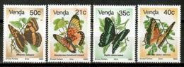Venda 1990 / Butterflies MNH Mariposas Papillons Schmetterlinge / Cu14929  1-6 - Mariposas
