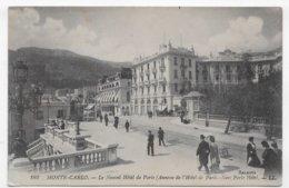 MONTE CARLO - N° 162 - LE NOUVEL HOTEL DE PARIS AVEC PERSONNAGES - CPA NON VOYAGEE - Hotels