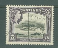 Antigua: 1963/65   QE II - Pictorial     SG154    5c   Black & Slate-lilac   [Wmk: Block Crown CA]   Used - Antigua & Barbuda (...-1981)