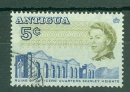 Antigua: 1966/70   QE II - Pictorial     SG185a    5c  [Perf: 13½]    Used - Antigua & Barbuda (...-1981)