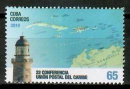 Cuba 2019 / Lighthouse Postal Congress MNH Faro Congreso Postal Leuchttürme / Cu15025  C4-5 - Nuevos